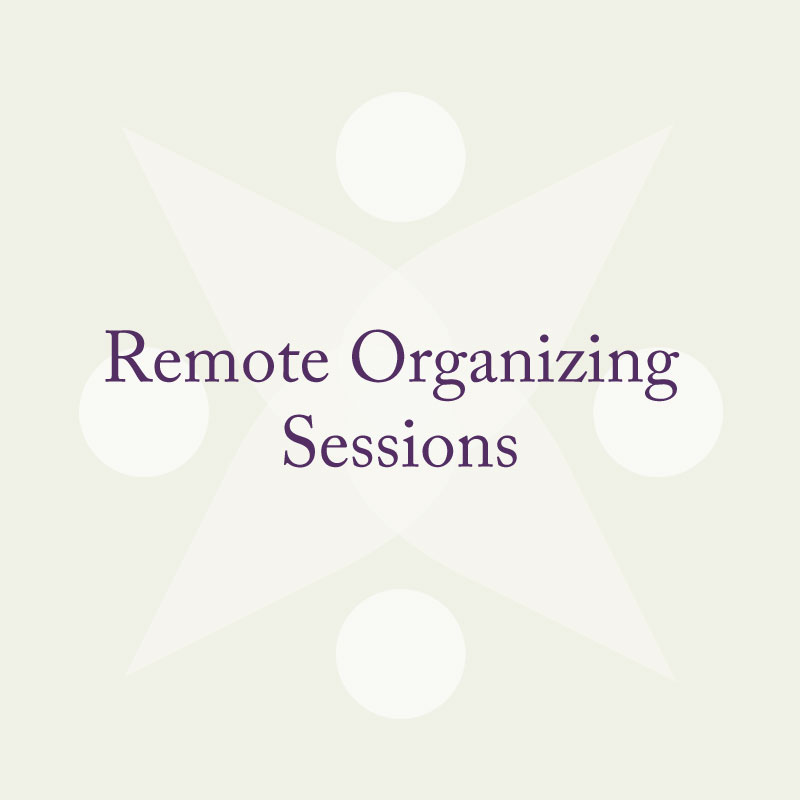 Remote Organizing Sessions